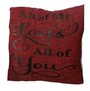 Hand Crafted | All Of Me Quote Throw Pillow Case